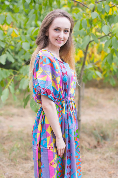 """Cut-out Cute"" kaftan in Diamond Aztec pattern"