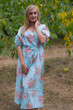 """Cut-out Cute"" kaftan in Faded Flowers pattern"
