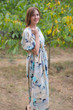 """Cut-out Cute"" kaftan in Flamingo Watercolor pattern"