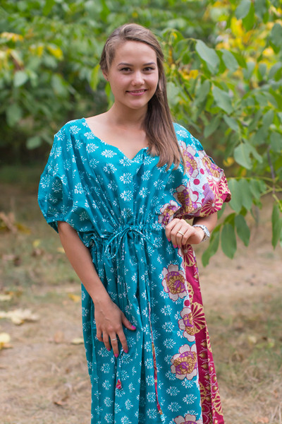 """Cut-out Cute"" kaftan in Floral Bordered pattern"