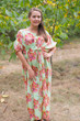 """Cut-out Cute"" kaftan in Floral Posy pattern"