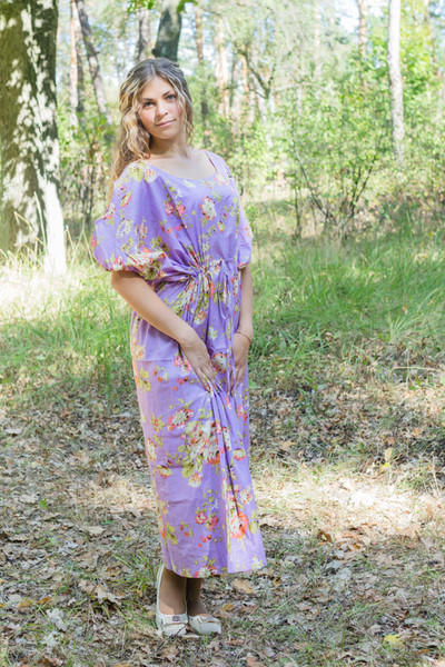 """Cut-out Cute"" kaftan in Flower Rain pattern"