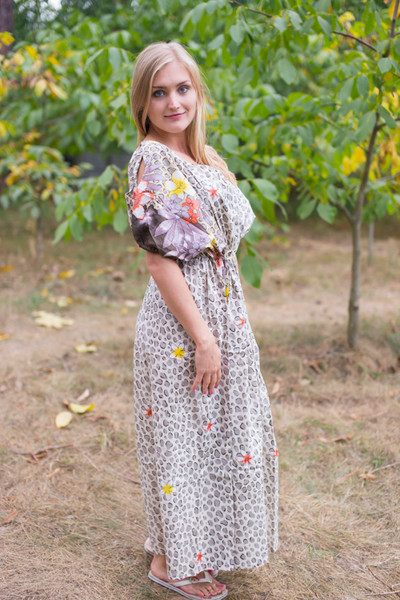 """Cut-out Cute"" kaftan in Fun Leopard pattern"