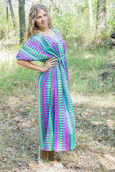 """Cut-out Cute"" kaftan in Geometrica pattern"