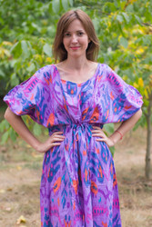 """Cut-out Cute"" kaftan in Ikat Aztec pattern"