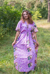 """Timeless"" kaftan in Butterfly Baby pattern"