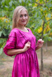 """Cut-out Cute"" kaftan in Multicolored Stripes pattern"