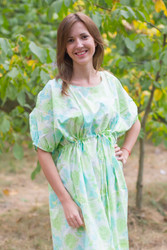 """Cut-out Cute"" kaftan in Ombre Fading Leaves pattern"