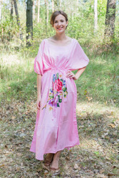 """Cut-out Cute"" kaftan in One Long Flower pattern"