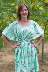 """Cut-out Cute"" kaftan in Pink Peonies pattern"