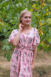 """Cut-out Cute"" kaftan in Romantic Florals pattern"