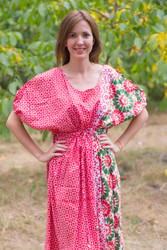 """Cut-out Cute"" kaftan in Round and Round pattern"