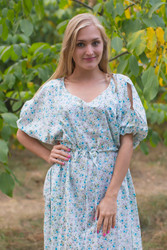 """Cut-out Cute"" kaftan in Starry Florals pattern"