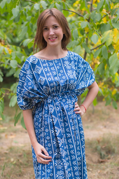 """Cut-out Cute"" kaftan in Tribal Aztec pattern"