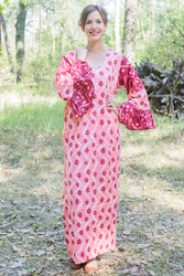 """Frill lovers"" kaftan in Chevron Dots pattern"