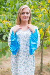 """Frill lovers"" kaftan in Starry Florals pattern"