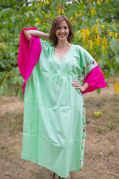 """Ballerina"" kaftan in Little Chirpies pattern"