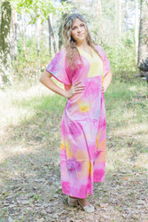 """Flowing River"" kaftan in Watercolor Splash pattern"