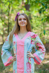 """The Glow Within"" kaftan in Cabbage Roses pattern"
