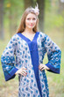 """The Glow Within"" kaftan in Chevron Dots pattern"
