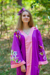 """The Glow Within"" kaftan in One Long Flower pattern"