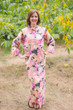 """Charming Collars"" kaftan in Flamingo Watercolor pattern"