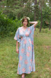 """Timeless"" kaftan in Faded Flowers pattern"