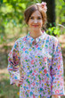 """Charming Collars"" kaftan in Happy Flowers pattern"