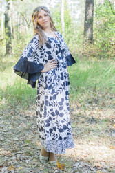 """Pretty Princess"" kaftan in Classic White Black"