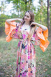 """Pretty Princess"" kaftan in Flamingo Watercolor"