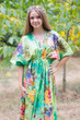 """Timeless"" kaftan in Large Floral Blossom pattern"