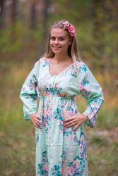 """Button me down"" kaftan in Blooming Flowers pattern"