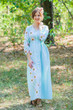 """Button me down"" kaftan in Falling Daisies pattern"