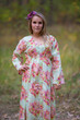 """Button me down"" kaftan in Floral Posy pattern"
