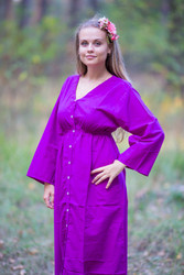 """Button me down"" kaftan in Plain and Simple pattern"