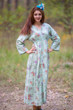 """Button me down"" kaftan in Romantic Flowers pattern"