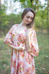 """High Low Wind Flow"" kaftan in Floral Posy pattern"