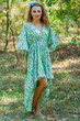 """High Low Wind Flow"" kaftan in Happy Flowers pattern"