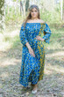 """Serene Strapless"" kaftan in Chevron Dots pattern"