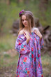 """Serene Strapless"" kaftan in Cute Bows pattern"