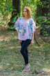 """Summer Celebration"" Tunic Dress kaftan in Blooming Flowers pattern"