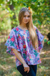 """Summer Celebration"" Tunic Dress kaftan in Cute Bows pattern"