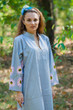 """Mandarin On My Mind"" kaftan in Falling Daisies pattern"