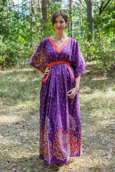 """Breezy Bohemian"" kaftan in Abstract Floral pattern"
