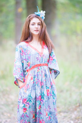 """Breezy Bohemian"" kaftan in Cute Bows pattern"