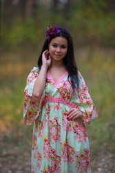 """Breezy Bohemian"" in Floral Posy pattern"