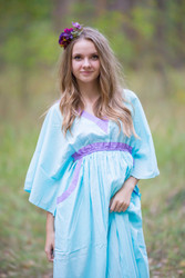 """Breezy Bohemian"" kaftan in Plain and Simple pattern"