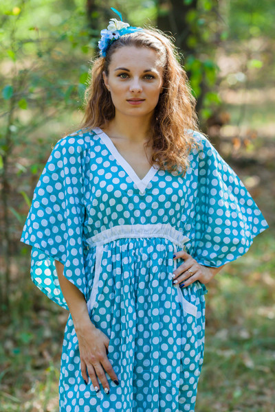 """Breezy Bohemian"" kaftan in Polka Dots pattern"