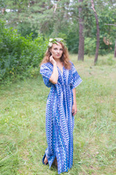 """Timeless"" kaftan in Geometrica pattern"