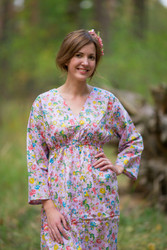 """Button me down"" kaftan in Happy Flowers pattern"